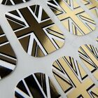 Designer CHIX NAILS Gold Union Jack Chrome Vinyl Nail Wraps Fingers Toes Foils