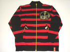 "(FREE SHIPPING) New STASH HOUSE 100% COTTON ""JAIL"" SWEATER JACKET BLACK / RED"