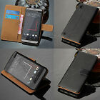 Luxury Tan Wallet Leather Case Flip Cover + Screen Guard For HTC Desire 530