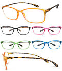1 or 3 Pair(s) Square Colorful Thin Frame Full Lens Reading Glasses Readers RE90