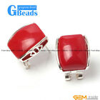 Rectangle Bead Tibetan Silver Plated Stud Earrings Fashion Jewelry Free Shipping