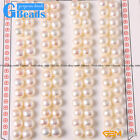 6-6.5mm Button Shape Half Drilled Genuine Pearl Beads For Earrings 14 Pairs