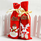 Christmas Decorations Santa Snowman Wine Bottle Cover Bags Dinner Party Gift J