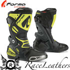 FORMA ICE PRO BLACK FLUO YELLOW MOTORCYCLE MOTORBIKE SPORTS RACING RACE BOOTS
