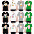 HEAD CASE DESIGNS FANCY UNICORNS 2 CHUBBY COLLECTION T-SHIRT FOR MEN