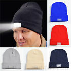 5 LED Lighting Cap Hat Winter Warm Beanie Night Angling Hunting Camping Running