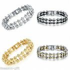 1PC New Stainless Steel Engine Mechanical Block Chain Shape Bangle Bracelet
