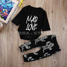 Cute Toddler Baby Boys Clothes Long Sleeve Tops T-Shirt Pants Outfits Sets 0-24M
