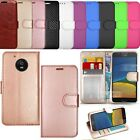 For Motorola Moto G4 Play -Wallet Leather Case Flip Stand Cover + Screen Guard