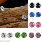 Unisex No Piercing Clip Crystal Magnetic Ear Stud Mens Womens Fake Earrings