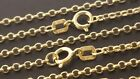 """14 k Solid Yellow Gold 1.5mm Italian Rolo Chain Necklace 20"""", 22""""."""