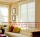 """2"""" FAUXWOOD BLINDS 70 1/2"""" WIDE x 85"""" to 96"""" LENGTHS - 3 GREAT WHITE COLORS!"""