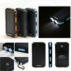 Waterproof 300000mAh Solar Power Bank 2USB Battery Portable Charger for Phone AU