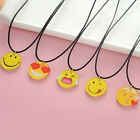 1pc Cute Emoji Picture Pendant Necklace Leather Chain Fashion Emoticons Cabochon