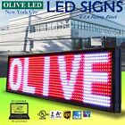 """OLIVE LED Sign 3Color RWP 15""""x40"""" PC Programmable Scroll. Message Display EMC"""