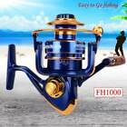 12Ball Bearing Bait Casting Spinning Saltwater Surf Fishing Reel Wheel FH Series