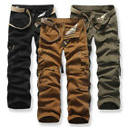 Army Cargo Camo Combat Military Mens Trousers Camoueflage Flace Casual Pants UK