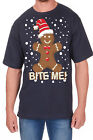 Adults Novelty Bite Me Print T-Shirt Christmas Explicit Festive Funny Rude Top