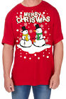Adults Novelty Snowman Print T-Shirt Christmas Explicit Festive Funny Rude Top