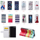 Luxury Painting Leather Folio Wallet Case Pouch For Samsung Mobile Phones 05