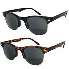 1 or 2 Pair(s) Clubmaster Horned Rim Semi Rimless Sun Readers Reading Sunglasses