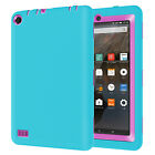 U.S ShockProof Defender Rubber PC Case Cover For Amazon Kindle Fire 7 Tablet 5th