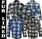 Free P&P F05 Mens Fur Lined Fleece Shirt Lumberjack Work Jacket Check  Warm