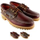 Mens Timberland Heritage Classic Lug Leather Lace Up Boat Shoe US Sizes 7.5-12