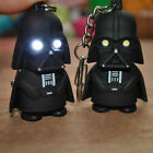 1Pc New Fashion LED Flashlight Key Chains Cool Star Wars Darth Vader Keyring