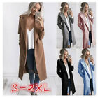 Womens Winter Warm Wool Lapel Long Coat Trench Parka Jacket Overcoat Outwear HX