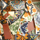 #002) Great selection of Broken Tiles Mexican Talavera tile for mosaics