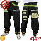 Dirty Money High School Green Turn Up Jeans Hip Hop Loose Fit  W42