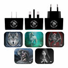 ANNE STOKES VARIOUS ART BLACK EU CHARGER & MICRO-USB CABLE FOR SAMSUNG PHONES 2