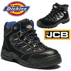 MENS LEATHER WATERPROOF SAFETY WORK SHOE HIKER STEEL TOE CAP TRAINER BOOTS 4-13