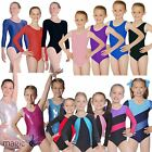 Roch Valley Girls Dance Gym Gymnastics Jazz Ballet Metallic Nylon Lycra Leotard