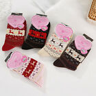 Women Winter Socks Christmas Gift Warm Wool Sock Cute Snowflake Deer