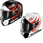Shark Skwal Lorenzo Motorcycle Helmet Replica Motorbike Biker Integral Crash LED