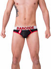Barcode Berlin 91171 Mesh Brief Twenty 9  black-red Gr: L - XL