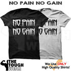 NO PAIN  NO GAIN - Gym Men's Bodybuilding T-shirt for Bodybuilding and Fitness