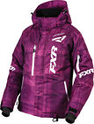 FXR Womens Wineberry Plaid/White Snowmobile Fresh Jacket Snocross