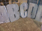"FREE SHIPPING 24"" Tall Recycled Corrugated Metal Letters A-Z and Numbers 0-9"