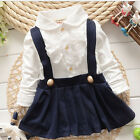 Baby Girl Dress Long Sleeve Cotton Mini Above Knee Casual Children Skirt Fashion