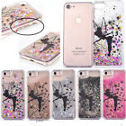 For iPhone Series Fairy Kids Gift Peter Pan Bling Glitter Stars Clear Case Cover
