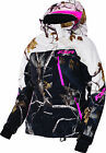FXR Womens AP Black/AP Snow/Electric Pink Fresh Snowmobile Jacket Insulated