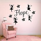 Personalised Girls Name & Fairys Wall Art Vinyl Sticker - Add Any Name!!