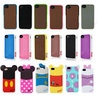 3D Cartoon Waffle Shoe Soft Skin Silicone Cover Case For iPhone 4G S 5G S 6 Plus