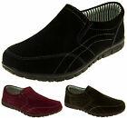 Ladies Coolers Real Suede Leather Casual Shoes Womens Slip On Comfort Trainers