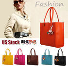 Fashion Women Handbags Leather Shoulder Bag Candy Color Flowers Decor Tote Bags