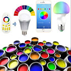 RGB  LED Bulb Light Dimmable WIFI Bluetooth Remote Control Music iOS/Android E27