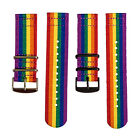 2 Piece Classic Nato Pride Rainbow Nylon Replacement Watch Strap Band